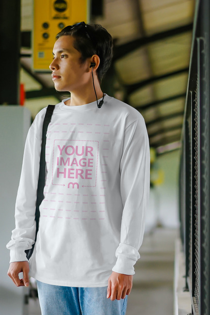 Shirt Template of Young Man at the Station preview image