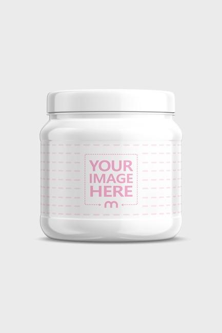 Plastic Supplement Jar Mockup