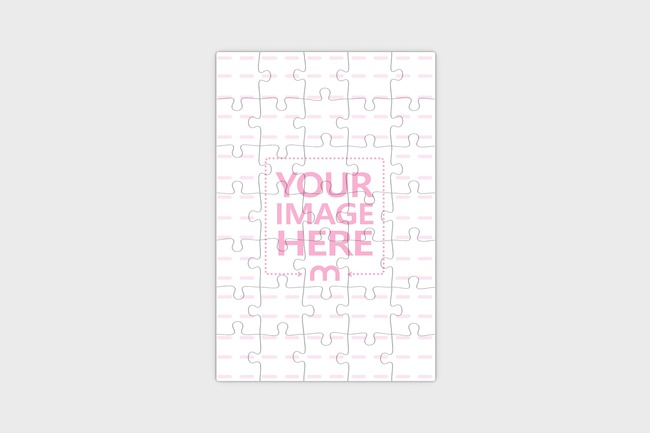 Top View Portrait Jigsaw Mockup preview image
