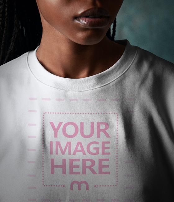 Close Up Shirt Mockup preview image