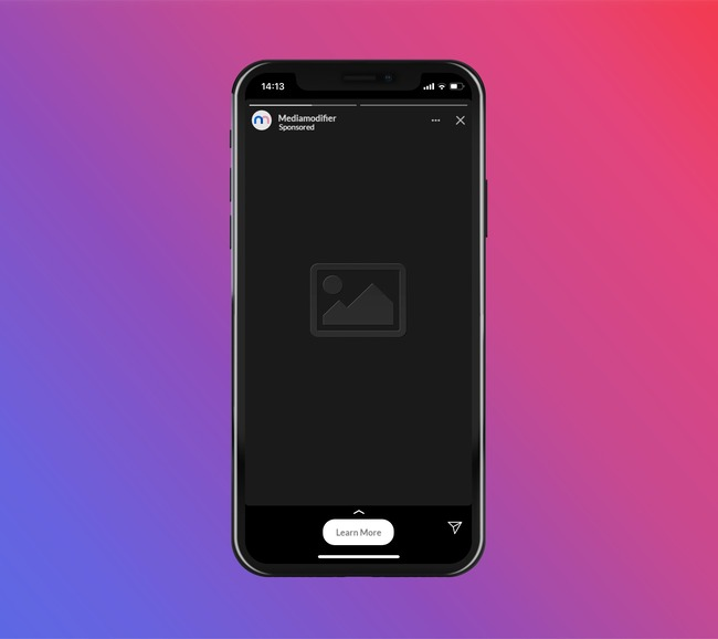 Instagram Story Ad Mockup in iPhone preview image
