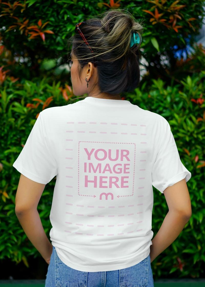 Back Side T-Shirt Mockup preview image