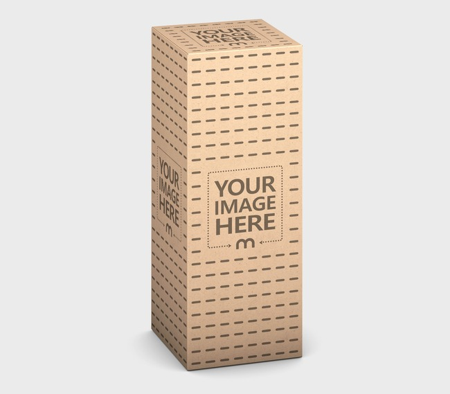 Tall Kraft Product Box Online Mockup preview image