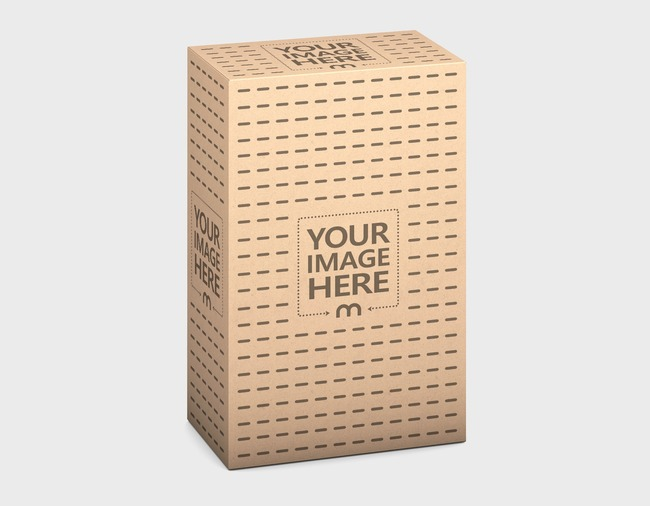 3D Kraft Product Box Online Mockup preview image