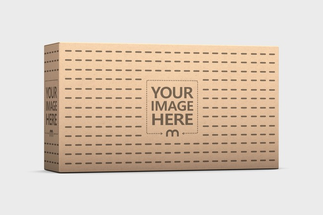 Kraft Package Box 110x60x30 Mockup preview image