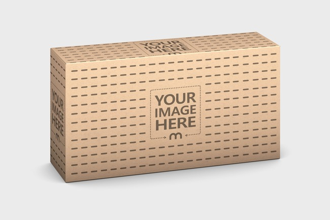 Kraft Package Box Mockup Template preview image