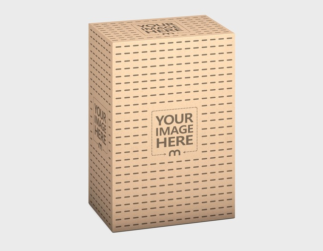 Kraft Delivery Box 130x200x85 Mockup preview image