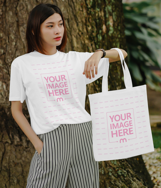Shirt and Tote Bag Mockup preview image