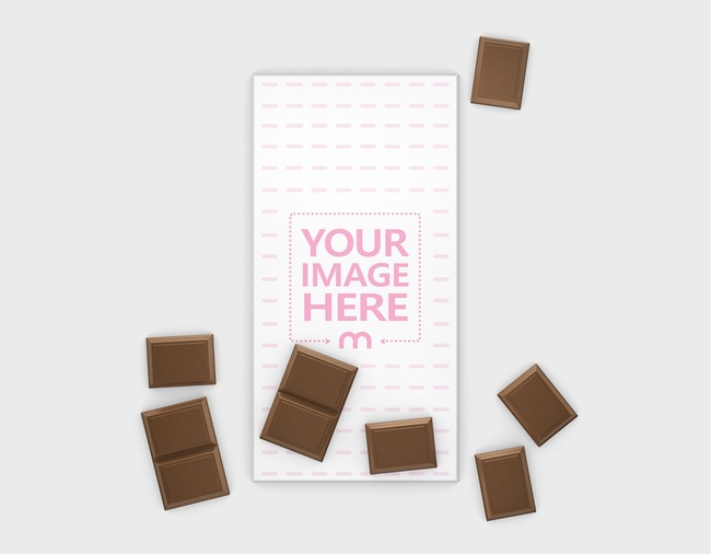 Chocolate Bar with Pieces Mockup Generator preview image