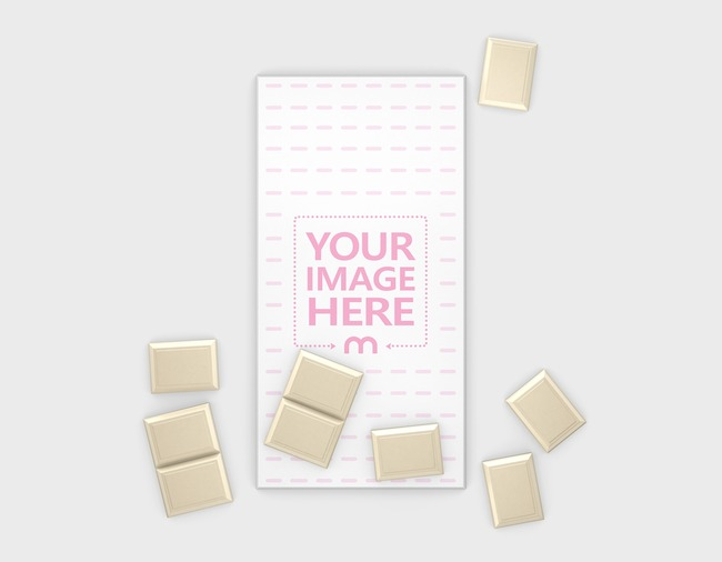 Chocolate Packaging with Pieces Mockup preview image