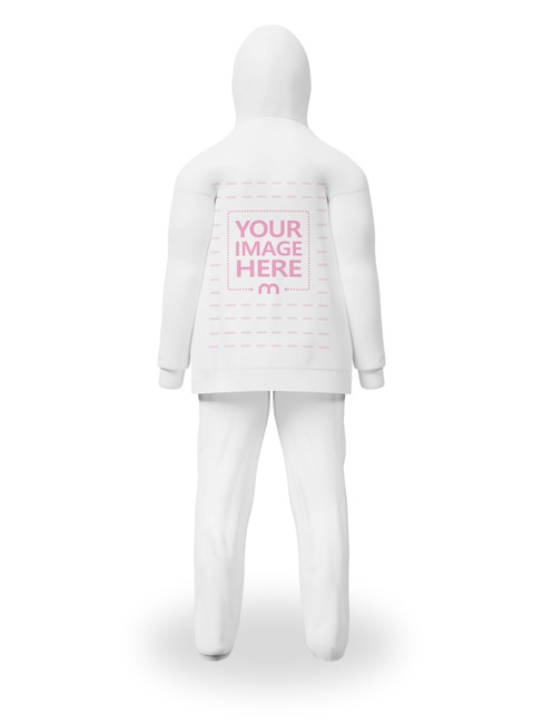 Back Side Hoodie With Trouser Mockup preview image