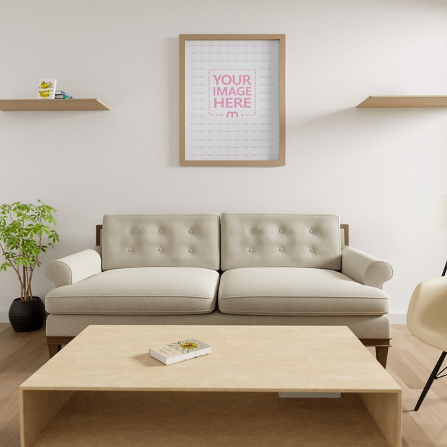 Canvas at a Living Room Mockup 8x5 preview image