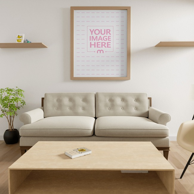 Canvas at a Living Room Mockup 10x8 preview image