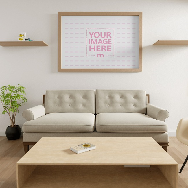 Canvas at a Living Room Mockup 8x10 preview image