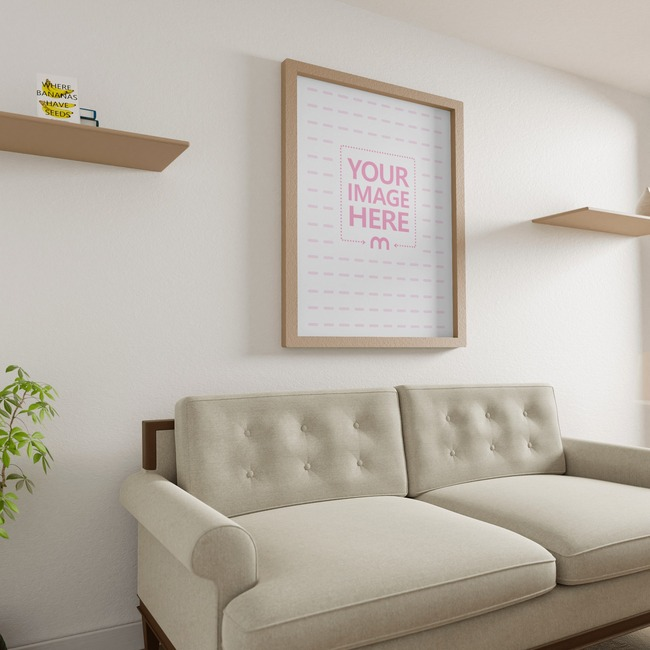 Side View Canvas Mockup at A Living Room 10x8 preview image