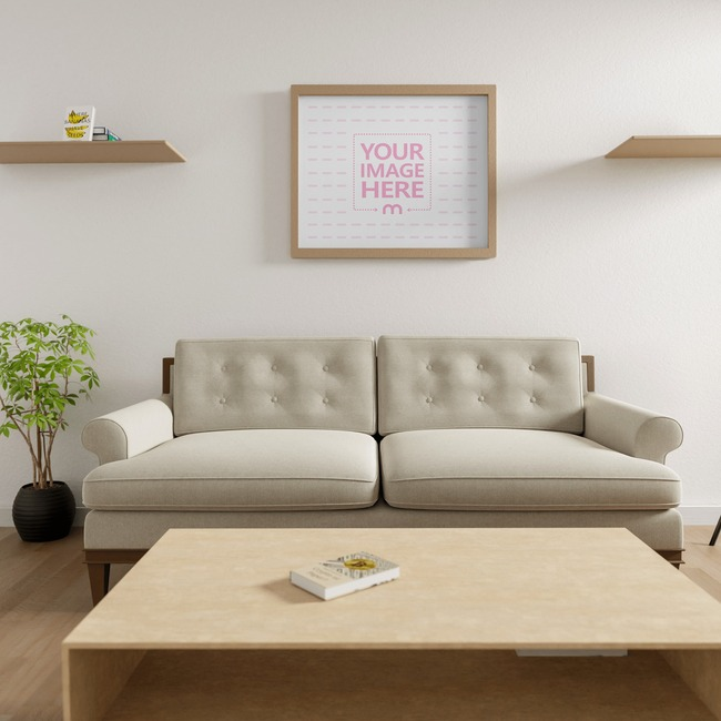 Canvas Mockup at a Living Room 5x7 preview image