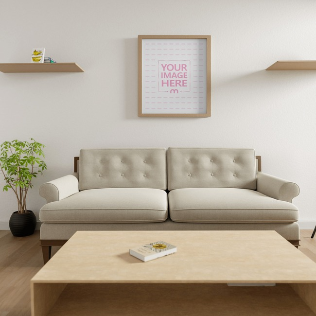 Canvas Mockup at a Living Room 7x5 preview image