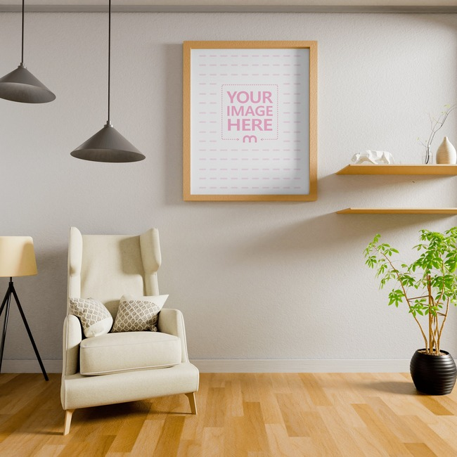 Canvas Mockup at a Living Room 10x8 preview image