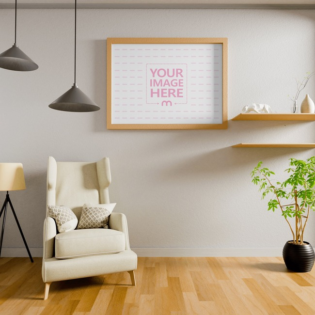 Canvas Mockup at a Living Room 8x10 preview image