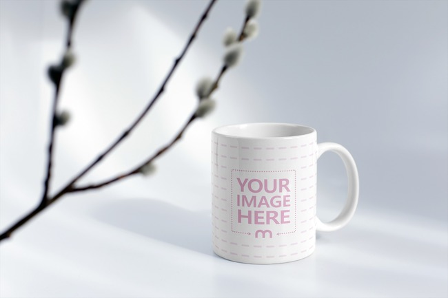 Coffee Mug with Willow Branch MockupGenerator preview image