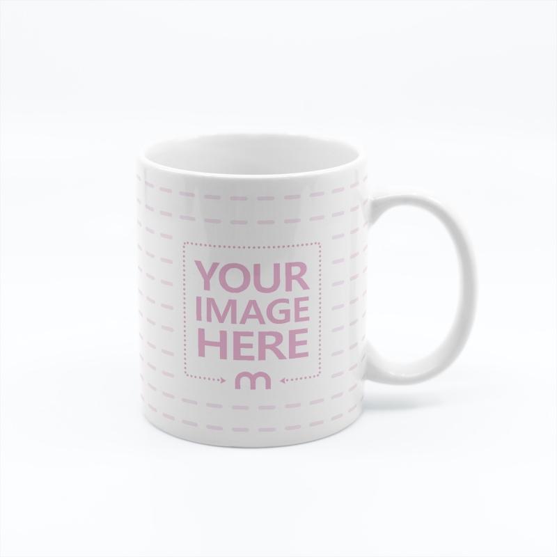 Ceramic Mug on White Background Mockup