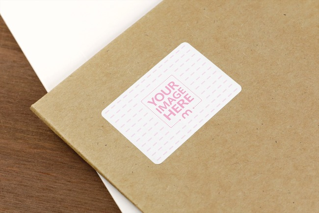 Shipping Envelope Sticker Mockup preview image