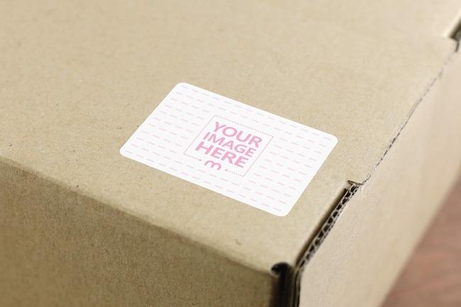 Shipping Box Sticker Mockup