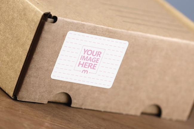 Shipping Box Label Mockup Generator