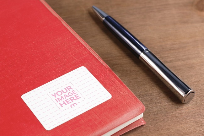 Notebook Label Mockup Template
