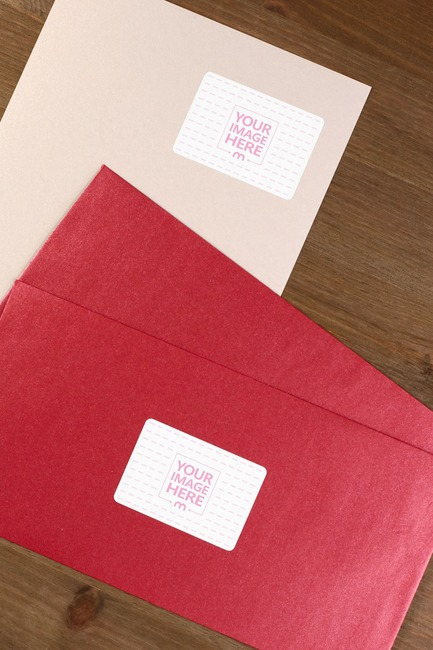 Red Envelope Stickers Mockup