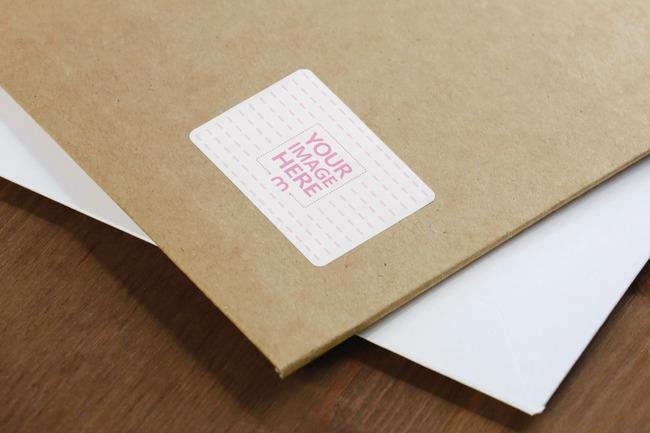 Cardboard Mailer Envelope Label Mockup