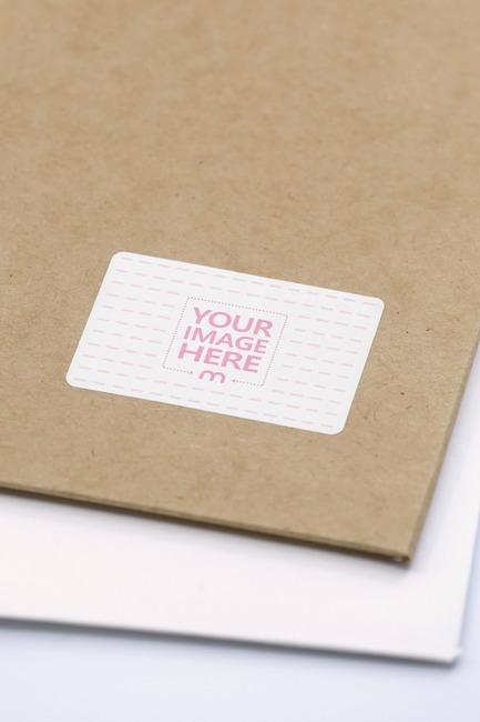 Kraft Mailer Envelope Sticker Mockup