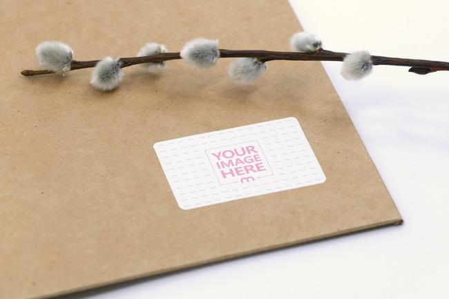 Shipping Envelope Label Mockup