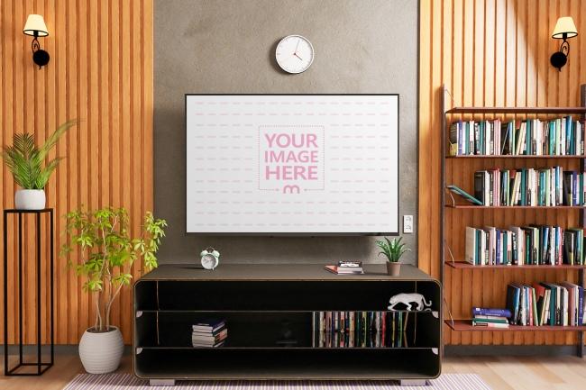 TV Mockup at a Living Room