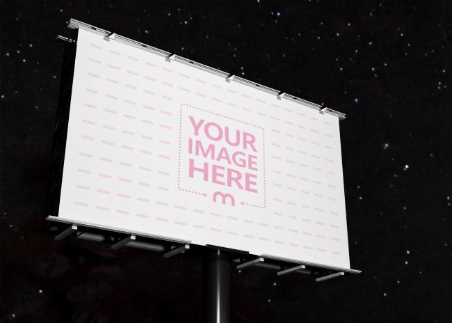Billboard mockup on the Night Scene preview image