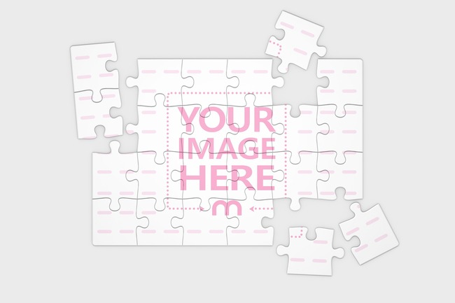 Jigsaw Puzzle Mockup 24 pieces (10x7in) preview image