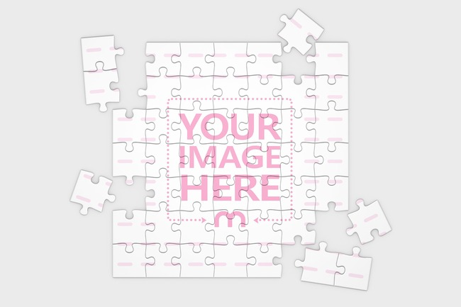 Jigsaw Puzzle Mockup 49 pieces (8x8in)