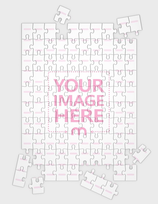 Jigsaw Puzzle Mockup 100 pieces (14x19in) preview image