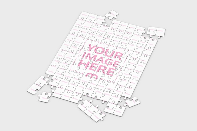 3D Jigsaw Puzzle Mockup 100 pieces (14x19in)