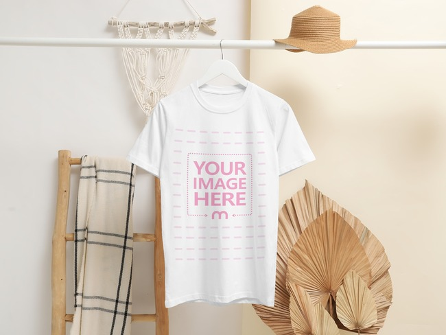 T-Shirt Hanging From a Clothing Rack preview image