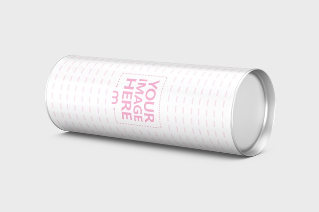 Lying Cylinder Container Mockup preview image