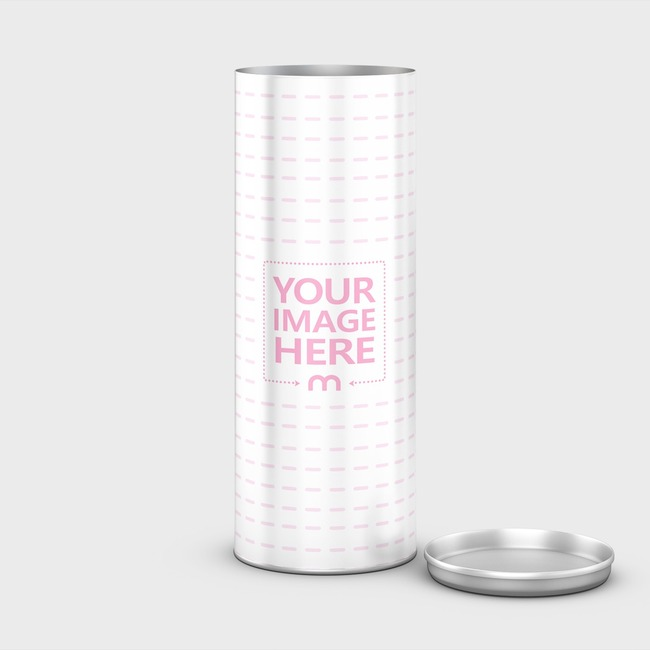 Open Cylinder Container Mockup preview image