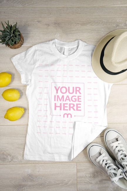 T-Shirt in a Decorated Scene Mockup