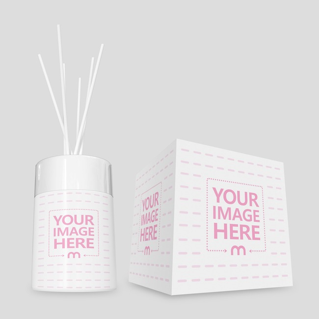 Bottom View of Diffuser Perfume With Square Box