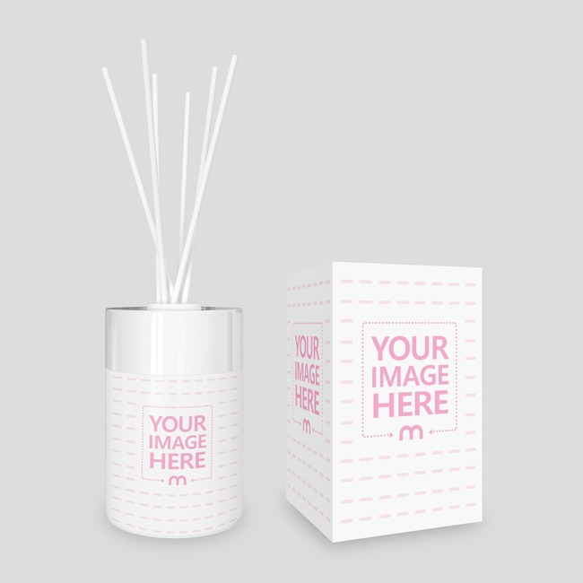 Front View of Diffuser Perfume With Rectangle Box