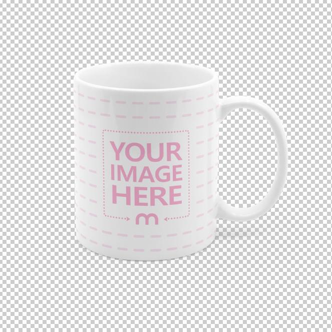 Coffee Mug on Transparent Background Mockup Generator
