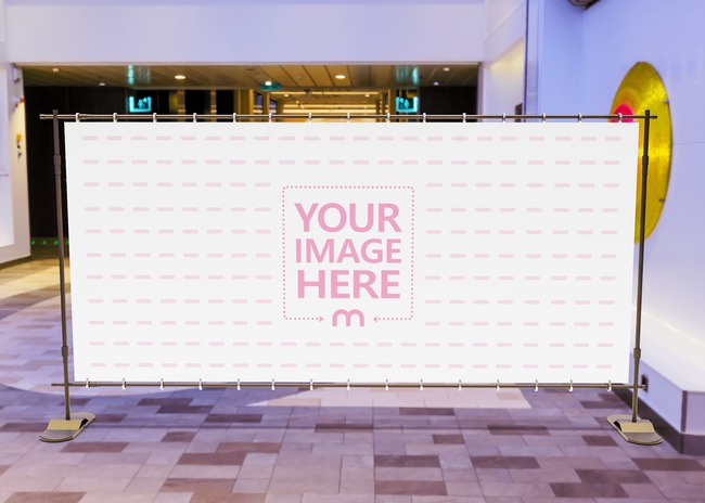 Billboard Mockup Close to the Outer Part of the Mall