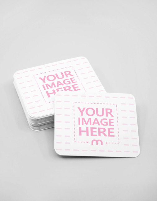 Rounded Business Cards Showcase Mockup preview image