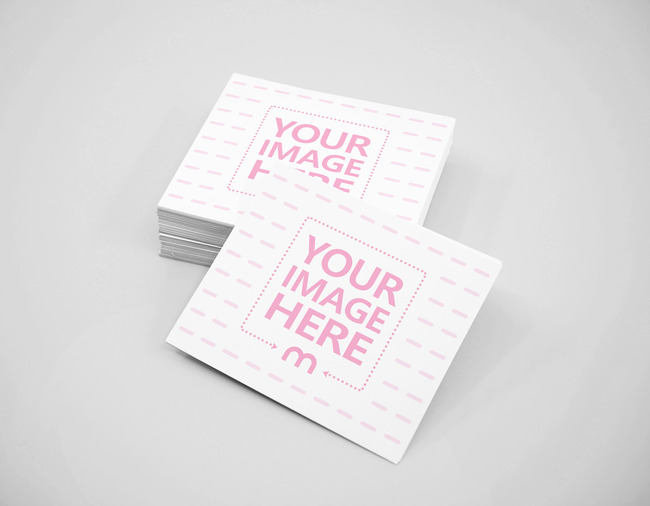 Business Cards on Clean Surface Mockup