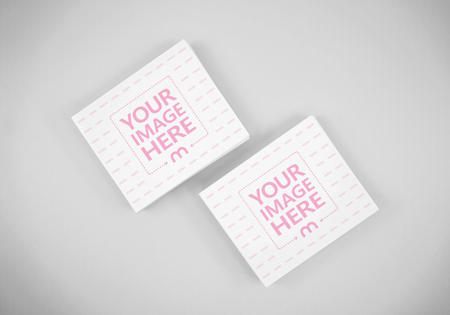 Business Cards Top View Mockup Generator